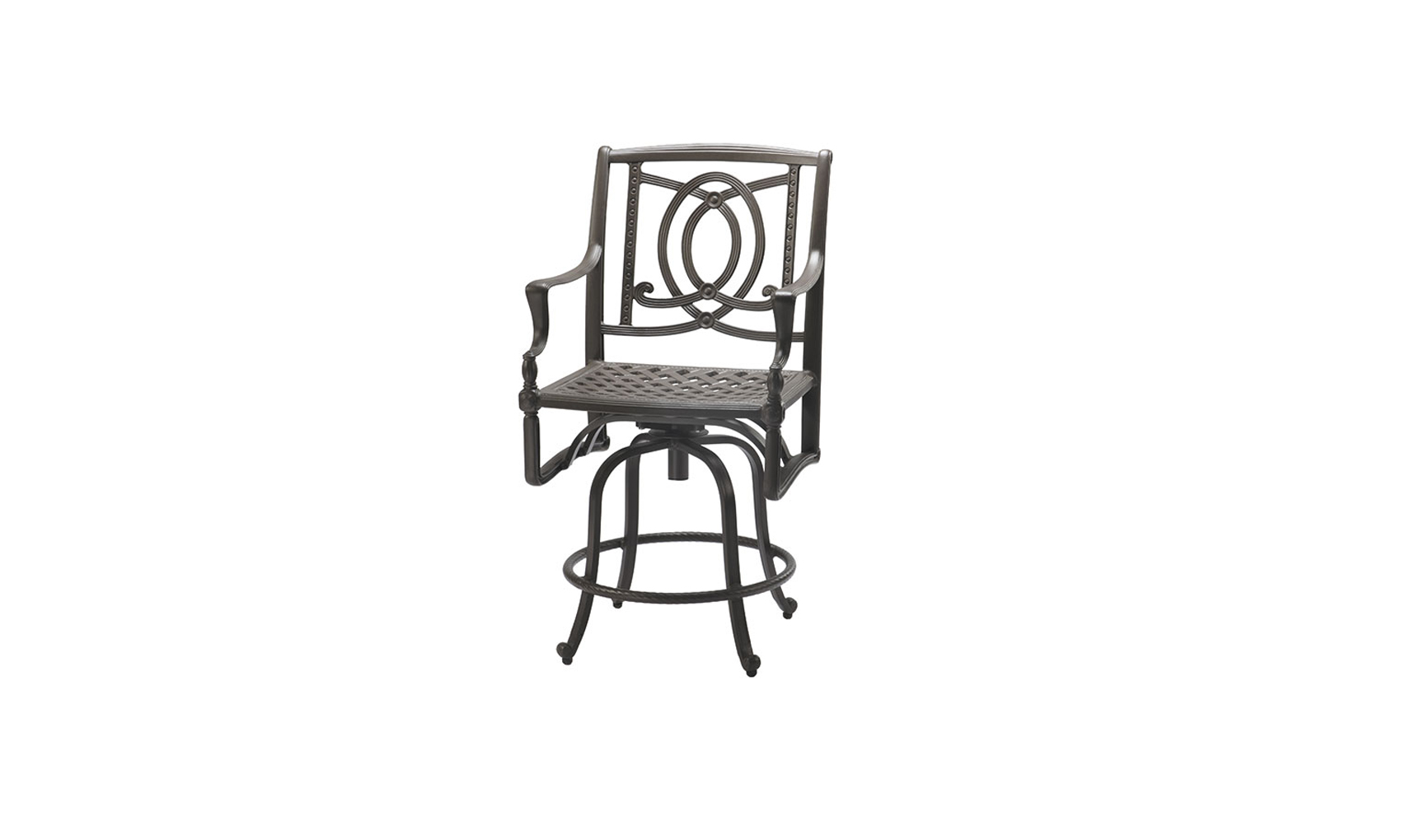 Bel Air Cushion Swivel Balcony Stool Outdoor Living Concepts