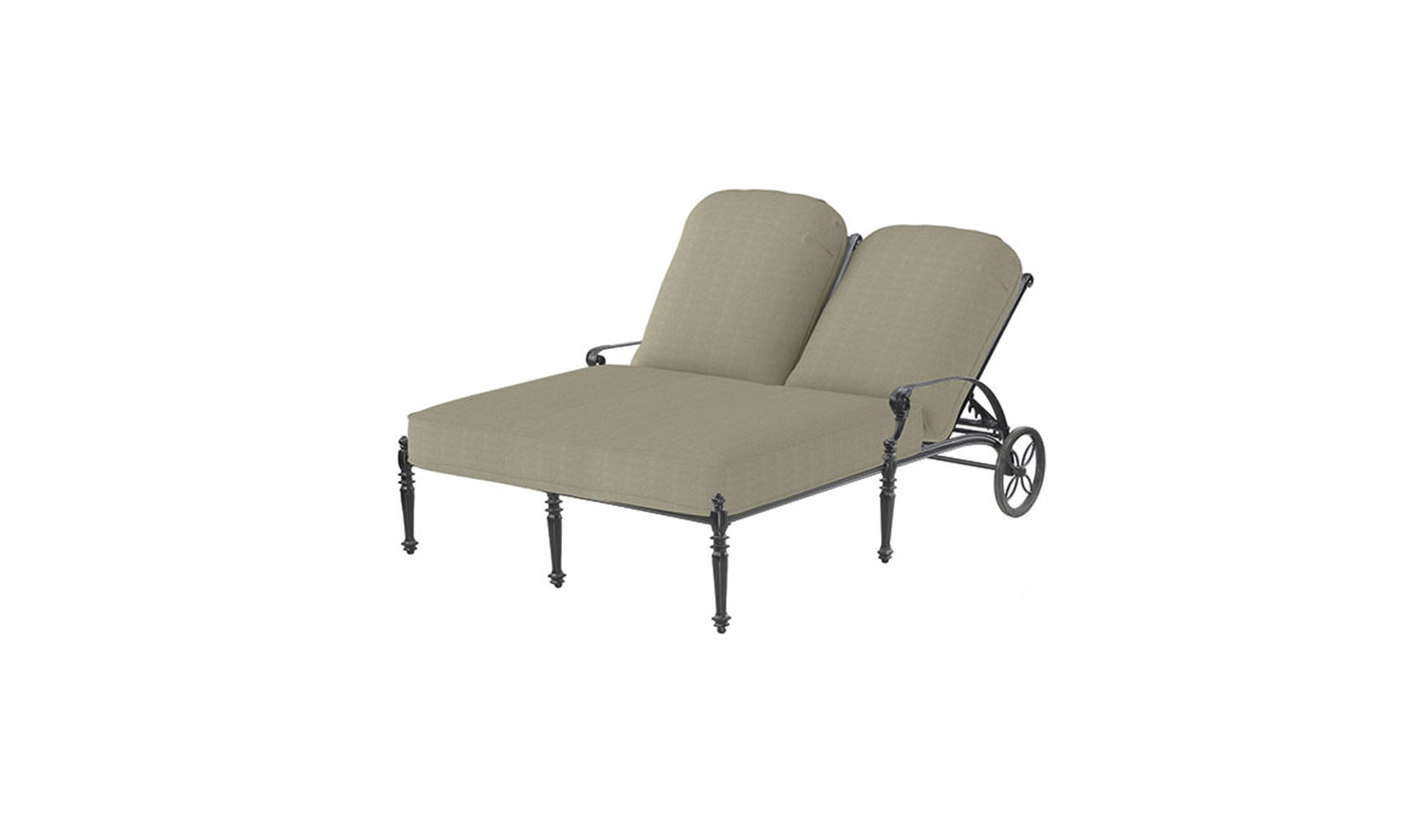 Grand Terrace Cushion Double Chaise Lounge Outdoor
